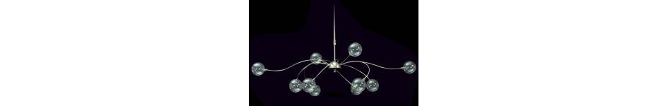 Hanglampen bij verlichtingswinkel van Nierop in Den Haag