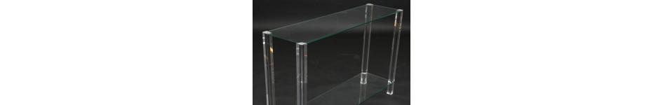 Glazen design sidetable