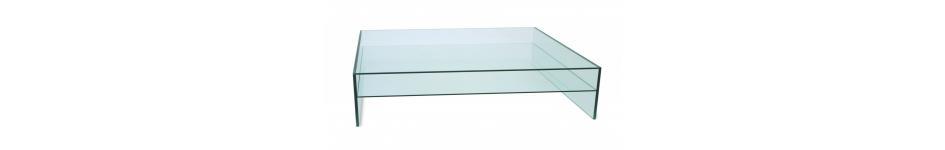 Glazen design salontafels