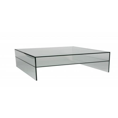 Glazen salontafel 120 x 70 cm