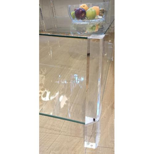 Glazen sidetable 30 x 110 cm