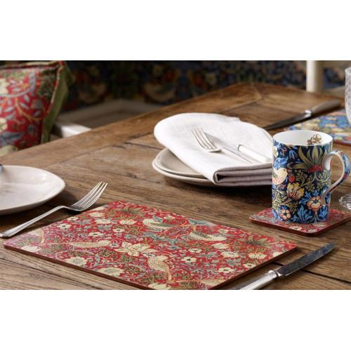 Placemats Strawberry Thief rood van Pimpernel